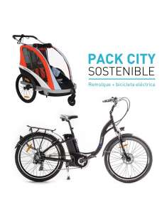 Pack City sostenible remolque Weeride + bicicleta eléctrica ICe