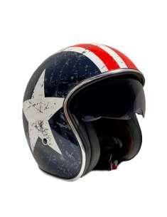 Casco moto Jet Vintage